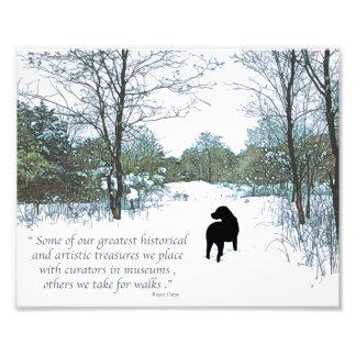 Black Labrador Quote - Treasures Photo Print