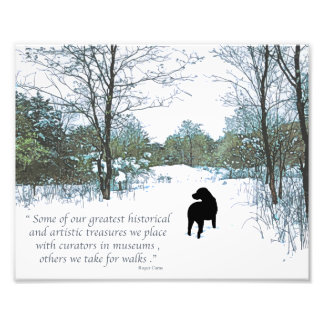 Black Labrador Quote - Treasures Photographic Print