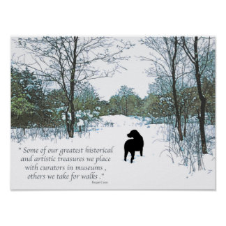 Black Labrador Quote - Treasures Poster