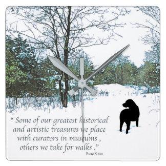Black Labrador Quote - Treasures Square Wall Clock