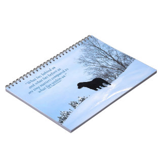 Black Labrador Quote - What lies within Us 2 Spiral Note Books