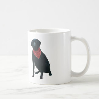 Black Labrador Red Bandana Coffee Mug