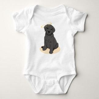 Black Labrador Retriever Angel Baby Bodysuit