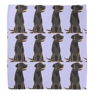 Black Labrador Retriever Bandana