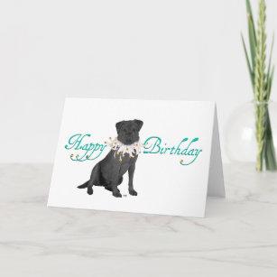 Black Labrador Retriever Birthday Card
