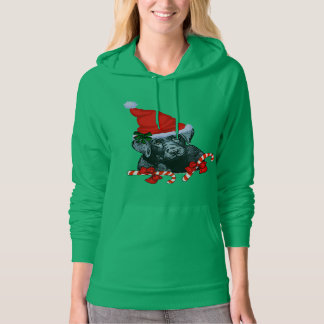 Black Labrador Retriever Christmas Hoodie