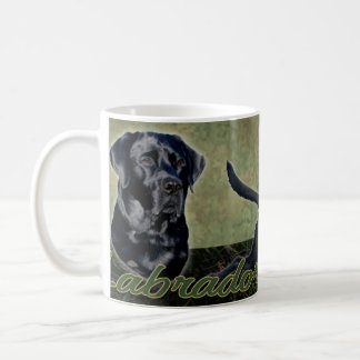 Black Labrador Retriever collage Mug