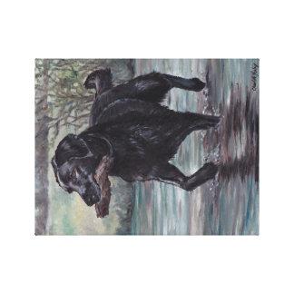 Black Labrador Retriever Dog Art Canvas Print