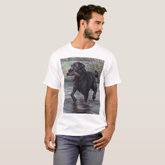 Black Labrador Retriever Dog Art T-shirt