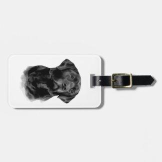 Black Labrador Retriever Dog Luggage Tag