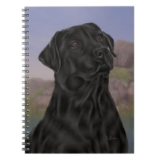 Black Labrador Retriever Dog Notebook