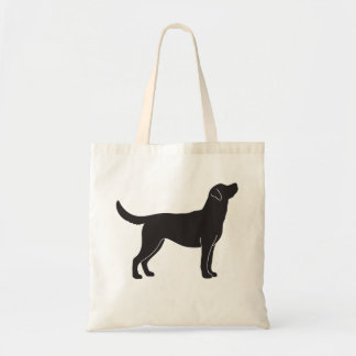 Black Labrador Retriever Dog Silhouette Tote Bag