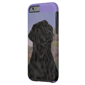 Black Labrador Retriever Dog Tough iPhone 6 Case