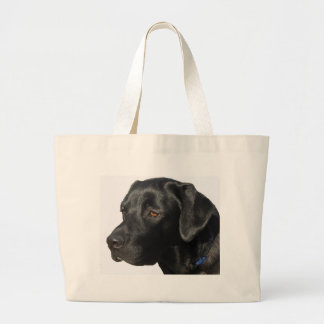 Black Labrador Retriever Large Tote Bag