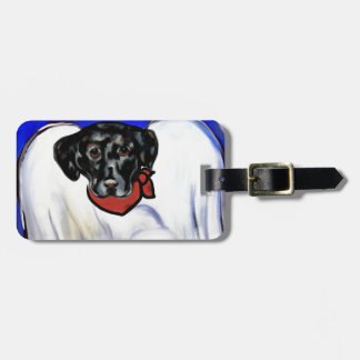 Black Labrador Retriever Luggage Tag
