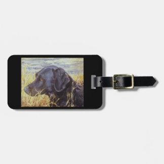 Black Labrador retriever luggage tag or purse tag