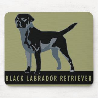Black Labrador Retriever Mouse Pad