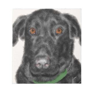 Black Labrador retriever Notepad