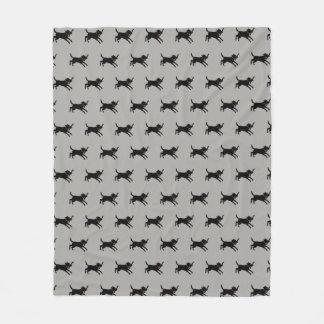 Black Labrador Retriever Pattern Fleece Blanket