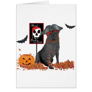 Black Labrador Retriever Pirate Card