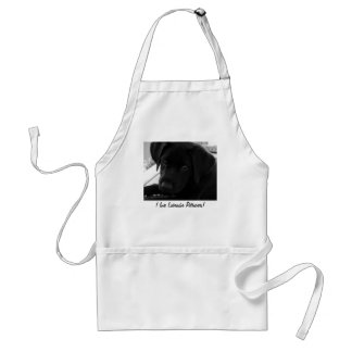 Black Labrador Retriever Puppy Apron