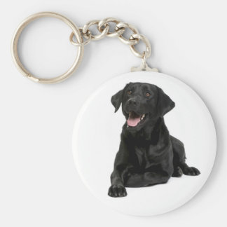 Black Labrador Retriever Puppy Dog Keychain