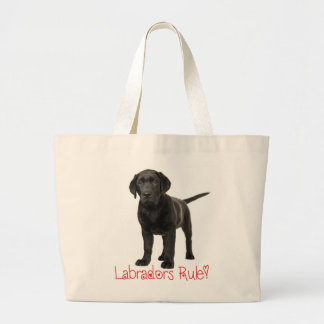 Black Labrador Retriever Puppy Dog Love Large Tote Bag