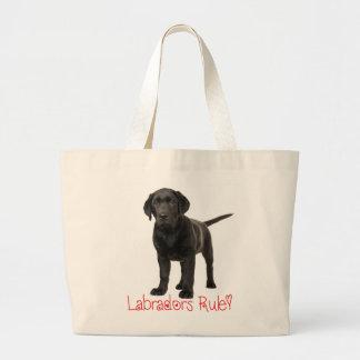 Black Labrador Retriever Puppy Dog Love Large Tote Bag
