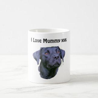 Black Labrador Retriever Puppy - I love Mummy Coffee Mug