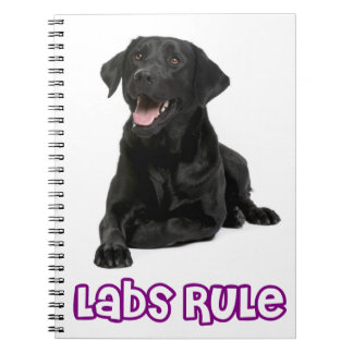 Black Labrador Retriever Puppy, Love Labs Notebook