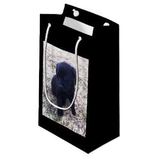 Black Labrador Retriever Puppy Small Gift Bag