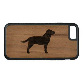 Black Labrador Retriever Silhouette Carved iPhone 8/7 Case