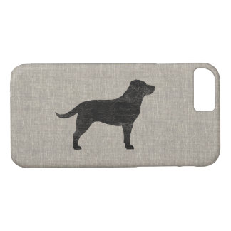 Black Labrador Retriever Silhouette iPhone 8/7 Case