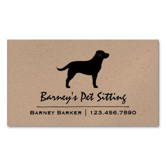 Black Labrador Retriever Silhouette Magnetic Business Card