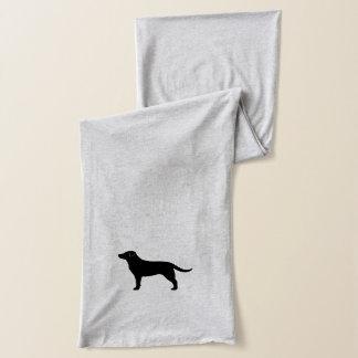 Black Labrador Retriever Silhouette Scarf