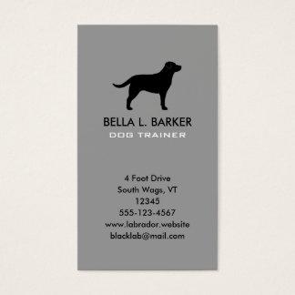 Black Labrador Retriever Silhouette Vertical Business Card