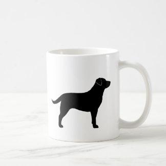 Black Labrador Retriever Silhouettes Coffee Mug