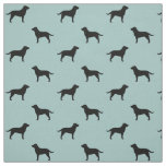 Black Labrador Retriever Silhouettes Pattern Fabric