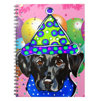 Black Labrador Retriever Spiral Notebook