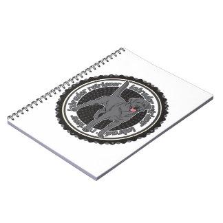 Black Labrador Retriever Spiral Notebooks