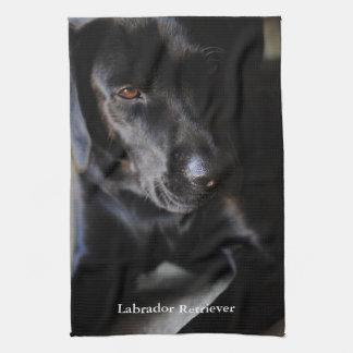 Black Labrador Retriever Tea Towels