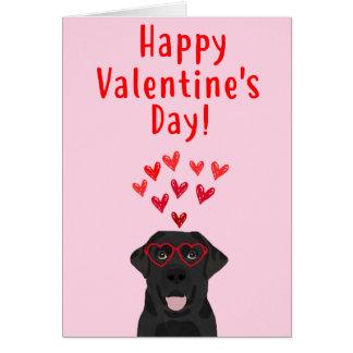 Black Labrador Retriever Valentine's Day Card
