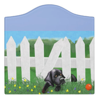 Black Labrador Room Sign