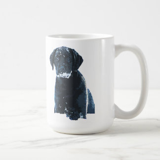 Black Labrador - Snow Crystals Coffee Mug