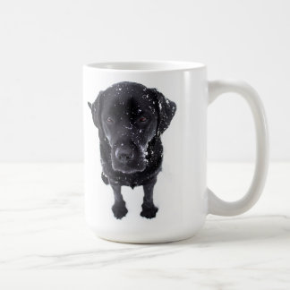 Black Labrador - Snow Dog Coffee Mug