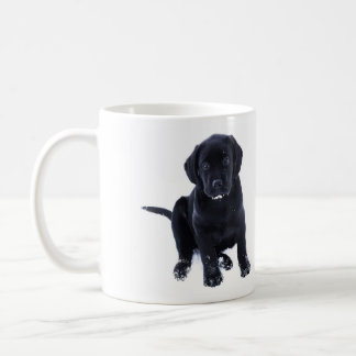 Black Labrador - Snow Puppy Coffee Mug