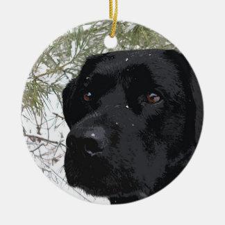 Black Labrador - Sparkling Pines Ceramic Ornament