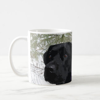 Black Labrador - Sparkling Pines Coffee Mug