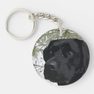 Black Labrador - Sparkling Pines Key Ring