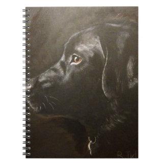 Black Labrador Spiral Note Book